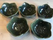 【陶器】小鉢 5点セット 緑