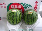 BP030-NT♪フルーツ王国山形♪尾花沢すいか(小玉×2玉)