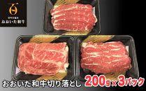 【数量限定】おおいた和牛 切り落とし600g(200g×3パック)
