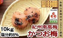 紀州南高梅 かつお梅 10㎏(塩分8%)