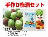 手作り梅酒セット(南高梅1kg・氷砂糖・ホワイトリカー) 発送は6月~