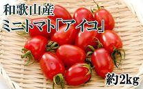 【2021年6月出荷分】和歌山産ミニトマト「アイコトマト」約2kg(S・Mサイズおまかせ)