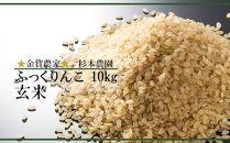 FF005☆金賞農家☆が作る「ふっくりんこ★玄米★」10kg《杉本農園》【5100pt】