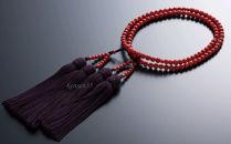 KN008 赤サンゴ 本連数珠(赤サンゴ5.5mm玉使用)