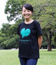 GR06NT(黒地/XLサイズ:男女兼用)屋久島ウィルソン株ハートTシャツ