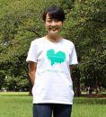 GR09NT(白地/Sサイズ:男女兼用)屋久島ウィルソン株ハートTシャツ