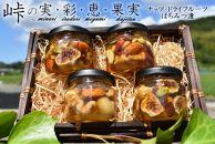 ナッツ・ドライフルーツの蜂蜜漬4種セット【峠の恵】【峠の彩】【峠の実】【峠の果実】