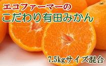 [厳選]エコファーマーのこだわり有田みかん7.5kg(サイズ混合・秀品)