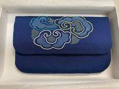 【加賀繍】(紺色)数珠入れ「雲彩」