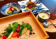 河内花園ふれんちん/2名様ランチコースお食事券(レトルトカレー8食付)