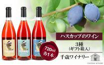 ハスカップのワイン3種720ml×各1本<ギフト箱入>