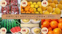 【定期便】季節の果物が奇数月に届くプチ贅沢コース(全6回)【数量限定】