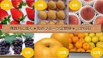 【定期便】旬の果物が偶数月に届くプチ贅沢セット(全6回)【数量限定】