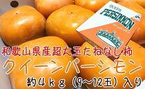 ■特大たねなし柿クイーンパーシモン4L~6Lサイズ約4kg