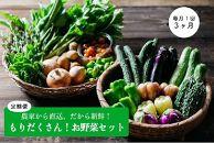 もりだくさんお野菜セット[3回定期便/8・9・10月]