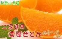 和歌山の濃厚せとか 約4~5kg (ご家庭用訳あり)