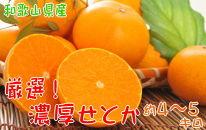 柑橘の王様 和歌山の濃厚せとか 約4~5kg