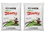 こうざきコシヒカリ(減農薬米)白米5kg、玄米5kg