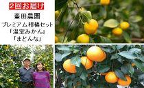 峯田農園のプレミアム柑橘セット「温室みかんとまどんな」(2回発送)