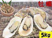 殻付き生食用福吉の牡蠣5kg【福岡県糸島産】