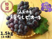 山梨県産ピオーネ1.5kg(3~4房)&ピオーネのセミドライフルーツ(ミニ)付き