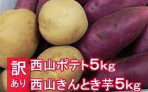 TA012【訳あり】西山ポテト&きんとき芋各5kg