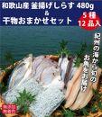 ■和歌山産釜揚げしらす480g&干物詰め合わせセット5種12品入り【無添加・無着色】