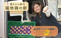 免疫アップ!濃厚で甘さが絶妙!福井ブランド「福地鶏」の卵(30個)