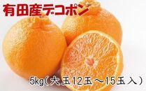 ■【お味濃厚】紀州有田産の大玉デコポン約5kg(12玉~15玉入り・青秀以上)