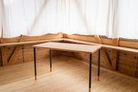 【ポイント交換専用】【阿蘇小国杉】木靴を履いた木のテーブル-SabotTable-
