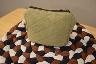 手紡ぎ 土布 ポーチ(綿100%)