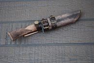 土佐鍛 MINI剣鉈110鮎型土佐オリジナル白鋼 樫オイルステンチェッカー