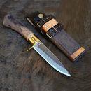 土佐アウトドア剣鉈120磨き真鍮ツバ輪日立青紙2号樫柄オイルステンチェッカー入