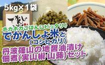 丹波篠山の地醤油漬、佃煮セット でかんしょ米5kgと実山椒・山蕗