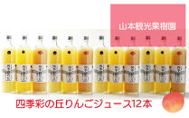 四季彩の丘りんごジュース12本セット【⼭本観光果樹園】