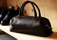 DULLES(北杜市産の野生鹿革のダレスバッグ)ブラック
