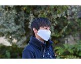 【Lサイズ】ひんやり冷たい抗菌マスク白 2枚組