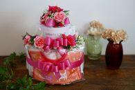 お花屋さんのオムツケーキ女の子用 Aセット