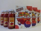 ばいはるちゃにカレー(8箱)・トマトジュース(8本)セット