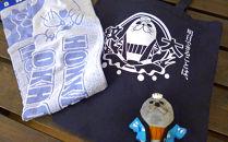 ゆるキャラ紋太グッズ(トートバック・ぬいぐるみ小、タオル[ブルー])