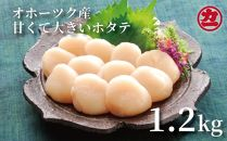 オホーツク産大粒ホタテ(1.2kg)
