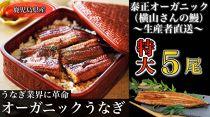★「泰正オーガニック(横山さんの鰻) 特大5尾」
