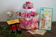 お花屋さんのオムツケーキ 女の子用 Bセット
