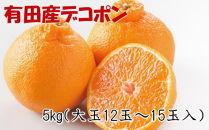 【お味濃厚】紀州有田産の大玉デコポン約5kg(12玉~15玉入り・青秀以上)