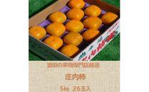 酒田の果物専門店厳選 庄内柿 5kg<木川果実店>