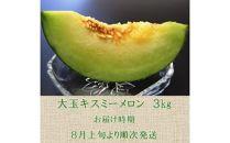 大玉キスミーメロン 3kg<三枡屋>