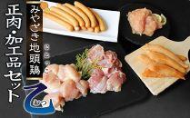 宮崎ブランドみやざき地頭鶏加工品・正肉セット(乙)