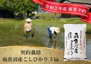【新米予約10月発送】南魚沼産こしひかり無洗米20㎏(5kg×4)