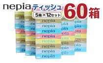 ネピアティシュ計60箱(5箱×12セット)