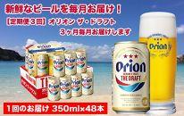 【定期便3回】オリオンザ・ドラフト2ケース(350ml×48缶)*県認定返礼品/オリオンビール*